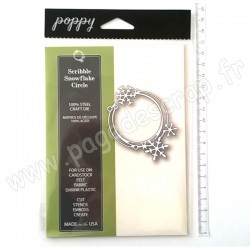 POPPYSTAMPS SCRIBBLE SNOWFLAKE CIRCLE