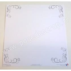 SCRAPBOOKING ADDICT COLLECTION ARABESQUE BORDURE ARABESQUE RONDE 30.5 x 30.5 cm