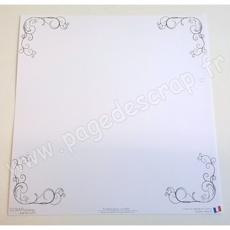 SCRAPBOOKING ADDICT COLLECTION ARABESQUE BORDURE ARABESQUE RONDE 30.5 x 30.5 cm