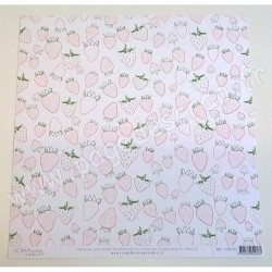 SCRAPBOOKING ADDICT COLLECTION GOURMANDISE FRAISES 30.5 x 30.5 cm