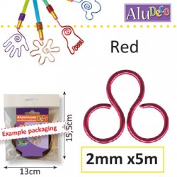 FIL ALU 2MM 5M ROUGE