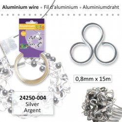 ALU WIRE 0.8MM 15M SILVER