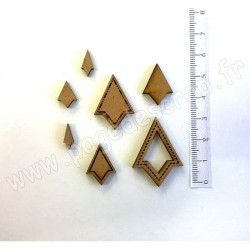 PDS SUJET BOIS TRIANGLES 3 mm COLLECTION FORMES