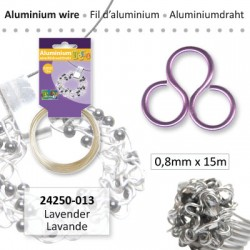 ALU WIRE 0.8MM 15M LAVENDEL