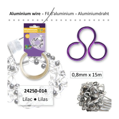 ALU WIRE 0.8MM 15M LILAC