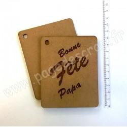 PDS MINI ALBUM BOIS BONNE FETE PAPA 8 x 10 cm