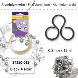 ALU WIRE 0.8MM 15M BLACK