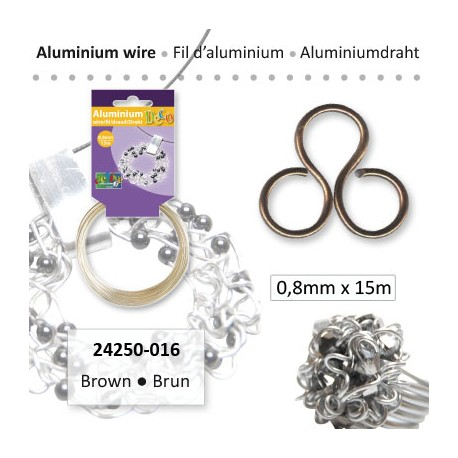 ALU WIRE 0.8MM 15 BROWN