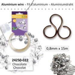 ALU WIRE 0.8MM 15M CHOCOLATE