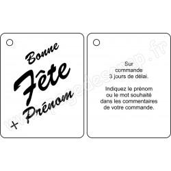 PDS MINI ALBUM BOIS BONNE FETE SUR COMMANDE 8 x 10 cm