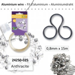 ALU WIRE 0.8MM 15M ANTHRACITE