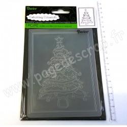 DARICE EMBOSSING TEMPLATE CHRISTMAS TREE 10,8 cm x 14,6 cm