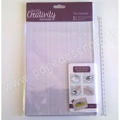 DOCRAFTS A5 BLOC TAMPON CLEAR