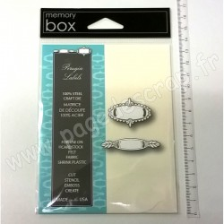 MEMORY BOX PERUGIA LABELS CRAFT DIES 2 outils