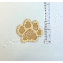 PDS SUJET BOIS FIN 1 mm PATTE DE CHAT COLLECTION ANIMAUX