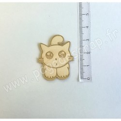 PDS SUJET BOIS FIN 1 mm MR CHAT COLLECTION ANIMAUX