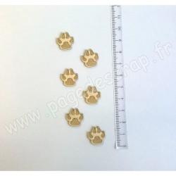 PDS SUJET BOIS FIN 1 mm PATTES DE CHIEN X6 COLLECTION ANIMAUX