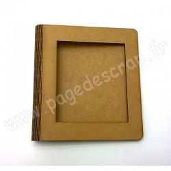 PDS ALBUM BOIS FLEXIBLE 19cm X 21cm AVEC FENETRE 12,7cm X 14,7cm