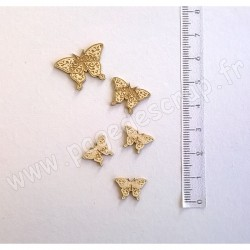 PDS SUJET BOIS FIN 1mm  PAPILLONS x5  COLLECTION PAPILLON