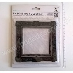 DOCRAFTS EMBOSSING FOLDER CADRE GUILDE CARRE 15 cm x 15 cm
