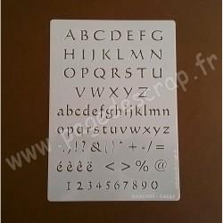 PDS POCHOIR ALPHABET CALLI   15cm X 21cm