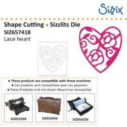 SIZZLITS DIE LACE HEART