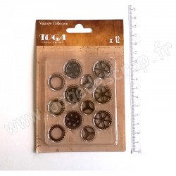 TOGA ASSORTIMENT 12 ENGRENAGES METAL