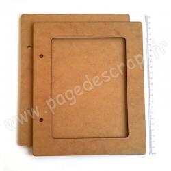PDS ALBUM BOIS 22,5 x19 cm 1 FENETRE