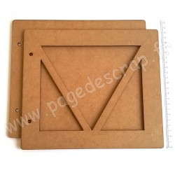 PDS ALBUM BOIS 22 x25 cm TRIANGLES