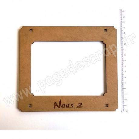 PDS CADRE BOIS 17 x 15 cm HOME DECO NOUS DEUX
