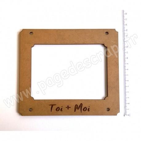 PDS CADRE BOIS 17 x 15 cm HOME DECO TOI + MOI