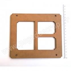 PDS CADRE BOIS 17 x 15 cm HOME DECO 3 FENETRES
