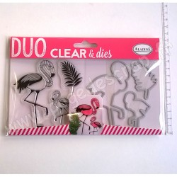 ALADINE DUO CLEAR + DIE CUT FLAMAND ROSE