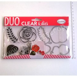 ALADINE DUO CLEAR + DIE CUT ROSE
