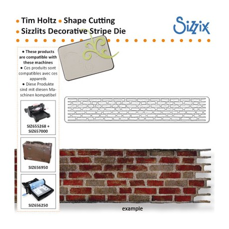 DECORATIVE STRIP DIE BRICK WALL