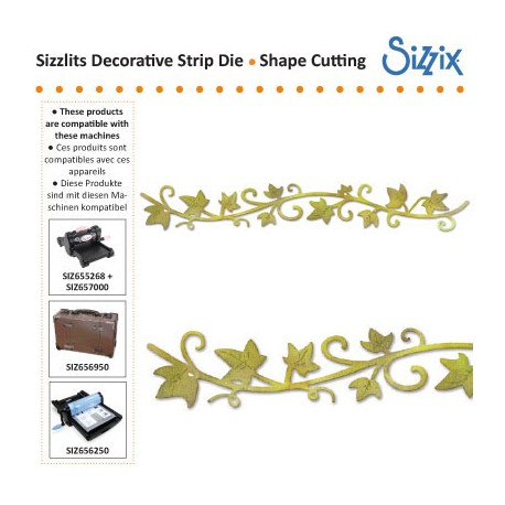 SIZZLITS DECORATIVE STRIP DIE VINE