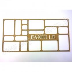 PDS CADRE BOIS HOME DECO FAMILLE 60 cm x 30 cm