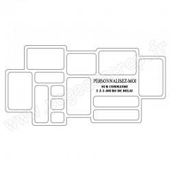 PDS CADRE BOIS DESTRUCTURE HOME DECO PERSONNALISE 60 cm x 30 cm
