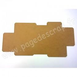 PDS FOND BOIS VENDU SEUL POUR CADRE DESTRUCTURE A ANGLES HOME DECO 60 cm x 30 cm