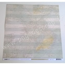 KAISERCRAFT HIGH TIDE COLLECTION SEA MAP 30.5 cm x 30.5 cm P2217