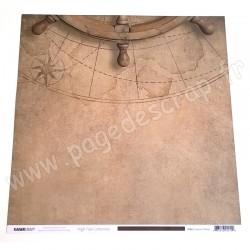 KAISERCRAFT HIGH TIDE COLLECTION CAPTAIN'S WHEEL 30.5 cm x 30.5 cm P2215