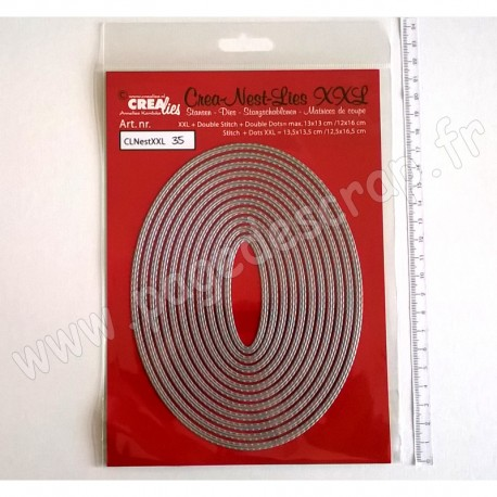 CREALIES DIES CREA NEST LIES DIES 35  XXL DOUBLE STITCH OVALS
