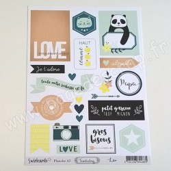 SWIRLCARDS COLLECTION TENDERLING PLANCHE ETIQUETTES A5 LEO
