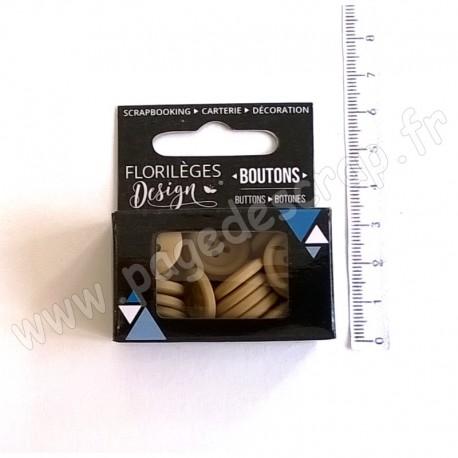 FLORILEGES DESIGN BOUTONS CAPPUCCINO 30 pièces