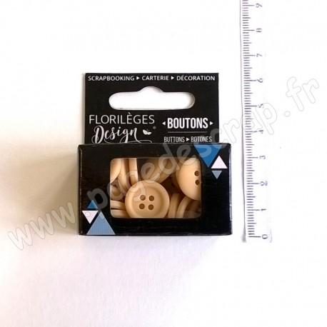 FLORILEGES DESIGN BOUTONS SAHARA 30 pièces