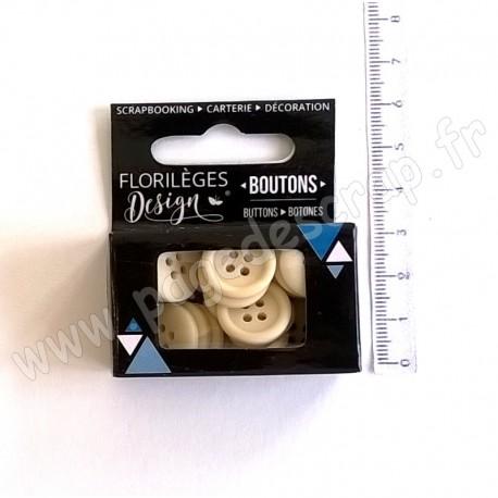 FLORILEGES DESIGN BOUTONS IVOIRE 30 pièces