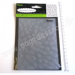 DARICE EMBOSSING TEMPLATE SEQUINS BACKGROUND 10,8 cm x 14,6 cm