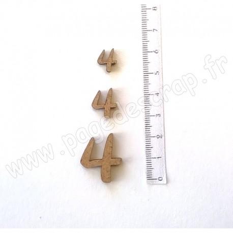 PDS SUJET BOIS 4 COLLECTION CHIFFRE 3 pièces