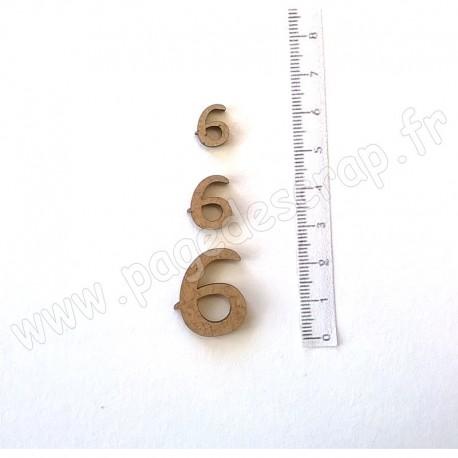 PDS SUJET BOIS 6 COLLECTION CHIFFRE 3 pièces
