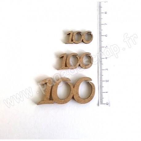 PDS SUJET BOIS 100 COLLECTION CHIFFRE 3 pièces